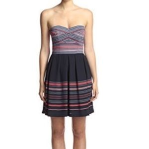 Anthropologie Hutch fit and flare strapless dress